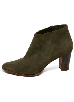 Manolo Blahnik Green Suede Booties 2