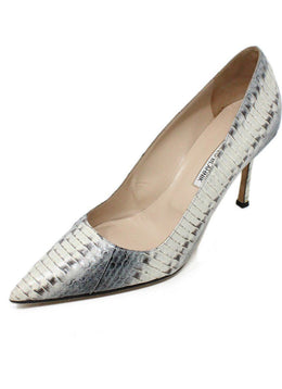 Manolo Blahnik Shoe Grey Brown Python Shoes