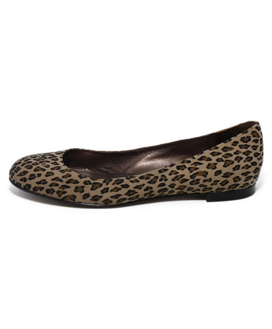 Manolo Blahnik Neutral Animal Print Suede Flats 1