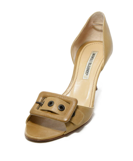 Michael Kors Brown Suede Peep Toe Heels, Sz. 38.5