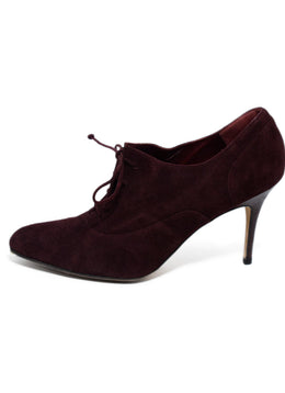 Manolo Blahnik  Red Burgundy Suede Lace Up Heels 2