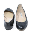 Manolo Blahnik Black Snakeskin Leather Flats 3