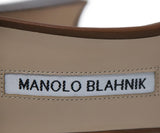 Manolo Blanhik Brown Leather Heeled Sandal with Ankle Strap 5