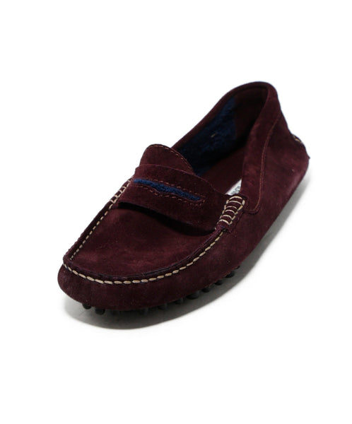 Manolo Blahnik Wine Suede Shoes Loafers 1