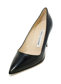 Manolo Blahnik Black Leather Shoes 1