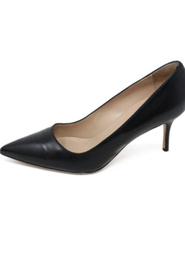 Manolo Blahnik Black Leather Heels 1
