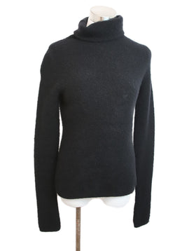 Manrico Black Cashmere Turtleneck Sweater 1