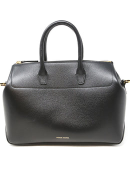 Mansur Gavriel Black Leather Tote Handbag 1