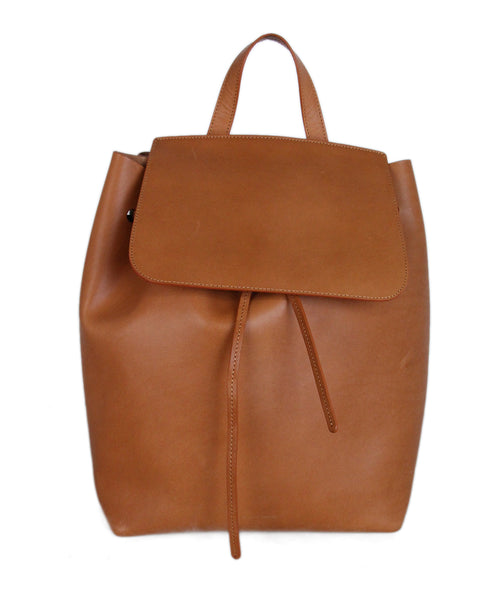 Mansur Gavriel Brown Tobacco Leather Backpack 1