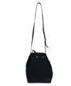 Mansur Gavriel Black Canvas Leather Trim Bucket Bag Handbag 3