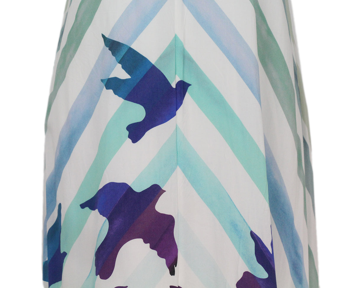 Mara Hoffman white blue purple long dress 6
