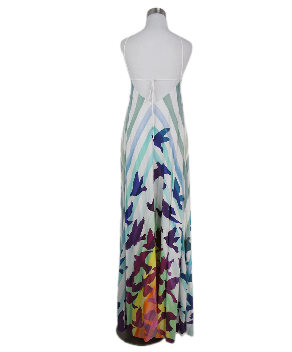 Mara Hoffman white blue purple long dress 3
