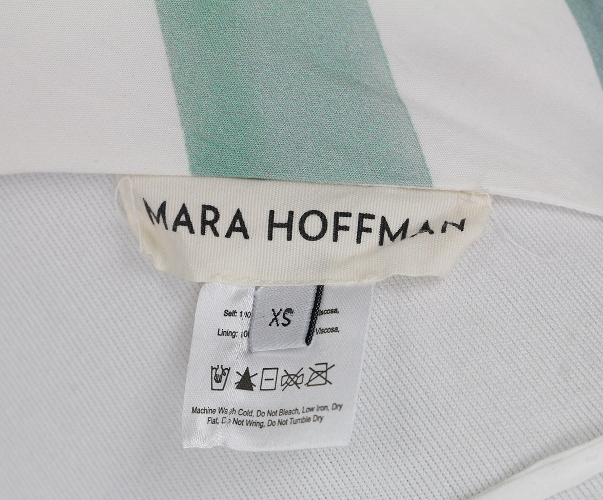 Mara Hoffman white blue purple long dress 4
