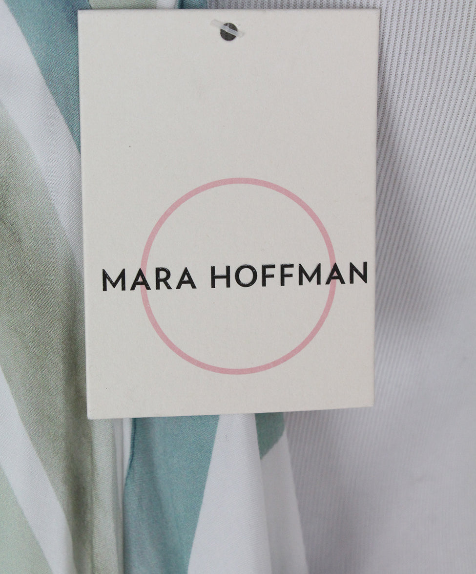 Mara Hoffman white blue purple long dress 5