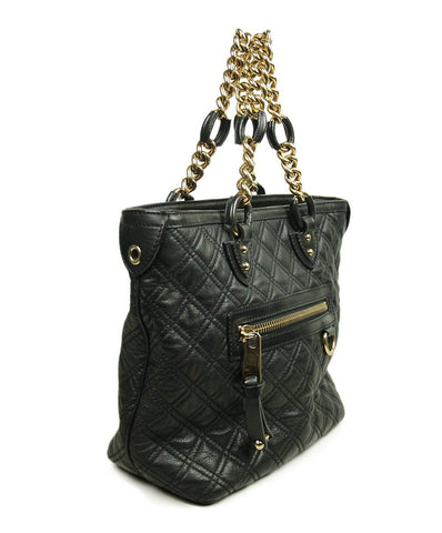 Marc Jacobs Black Leather Gold Chain Handbag 1