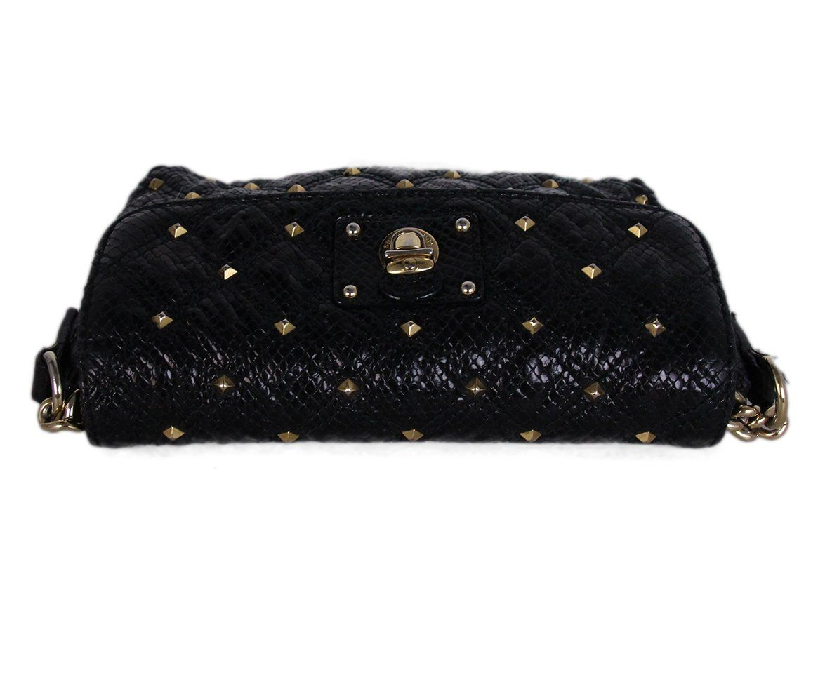 Marc Jacobs Black Leather Gold Studs Crossbody 5