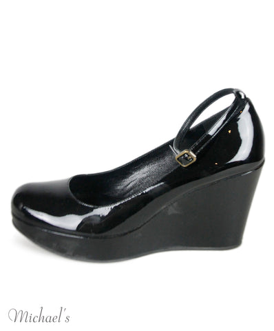 Marc By Marc Jacobs Black Patent Leather Shoes Sz 37.5