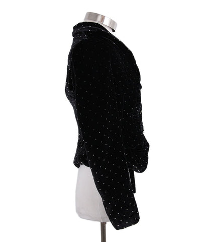 Marc Jacobs Black Velvet Polka Dot Jacket 1
