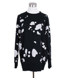 Marc Jacobs Black White Cotton Graphic Sweater 1