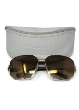 Marc Jacobs Brown Lens Ivory Enamel Sunglasses 1