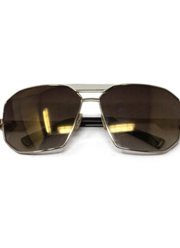 Marc Jacobs Brown Lens Ivory Enamel Sunglasses 2