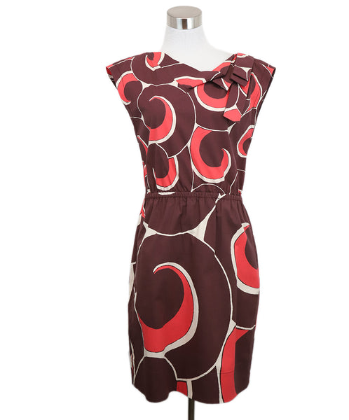 Marc Jacobs Burgundy Swirl Motif Dress 1