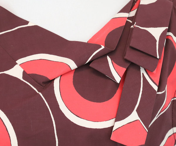 Marc Jacobs Burgundy Swirl Motif Dress 5