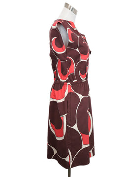 Marc Jacobs Burgundy Swirl Motif Dress 2