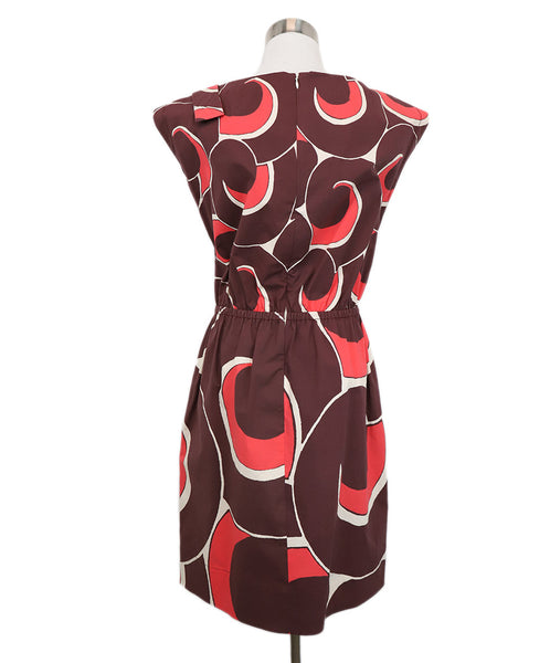Marc Jacobs Burgundy Swirl Motif Dress 3