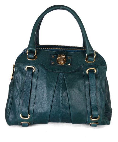 Marc Jacobs Teal Leather Tote 1
