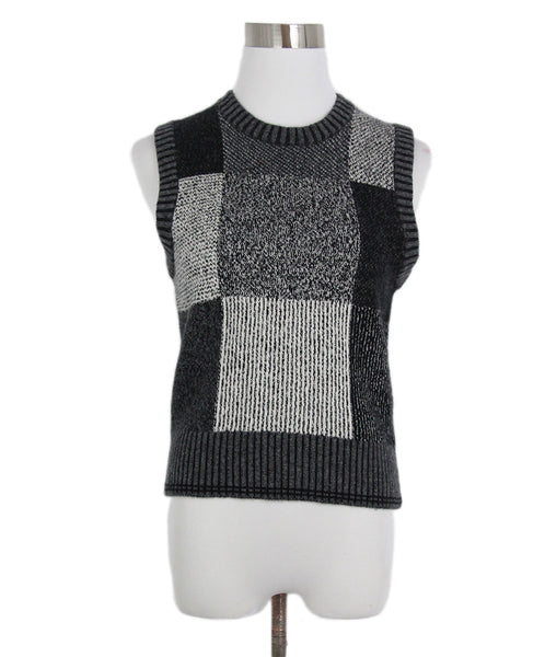 Marc Jacobs Black Grey Cashmere Sweater Vest 1