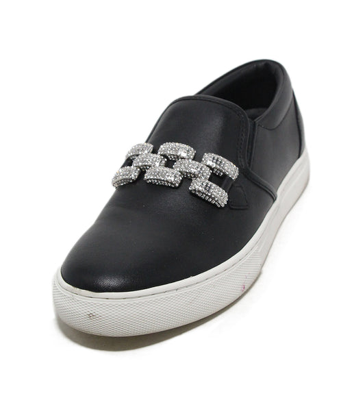 Marc Jacobs black leather rhinestone sneakers 1