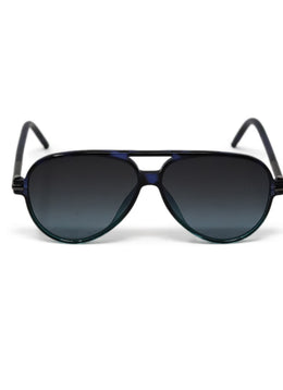 Marc Jacobs Black Lucite Ombre Sunglasses
