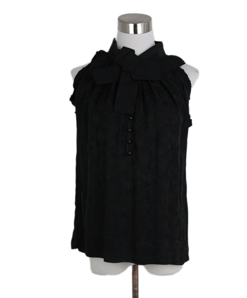 Marc Jacobs Black Silk Top 1