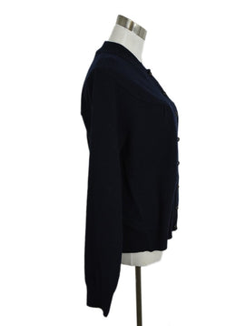 Marc Jacobs Blue Navy Cashmere Cardigan Sweater 2