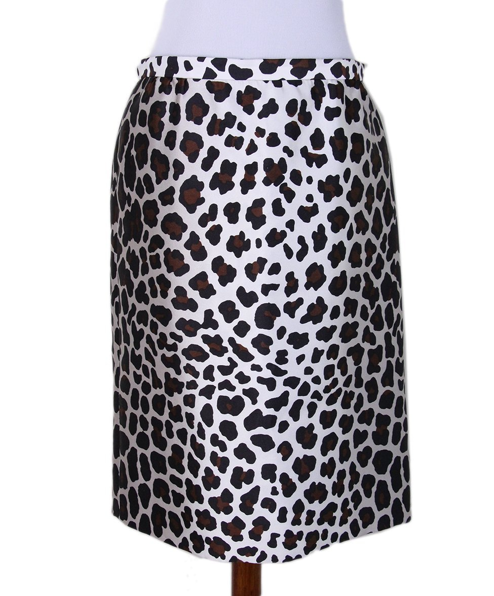 Marc Jacobs leopard white silk skirt 1