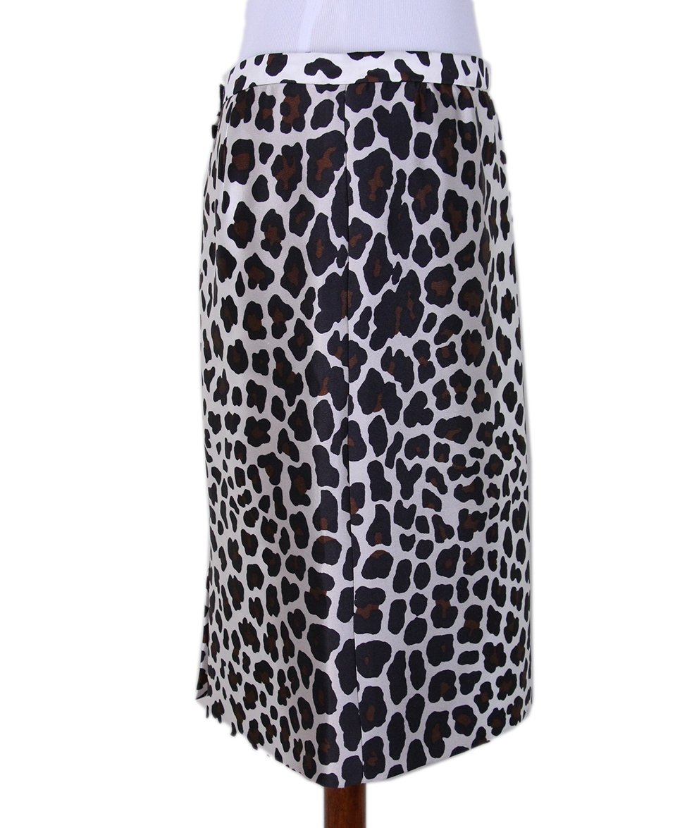 Marc Jacobs leopard white silk skirt 2