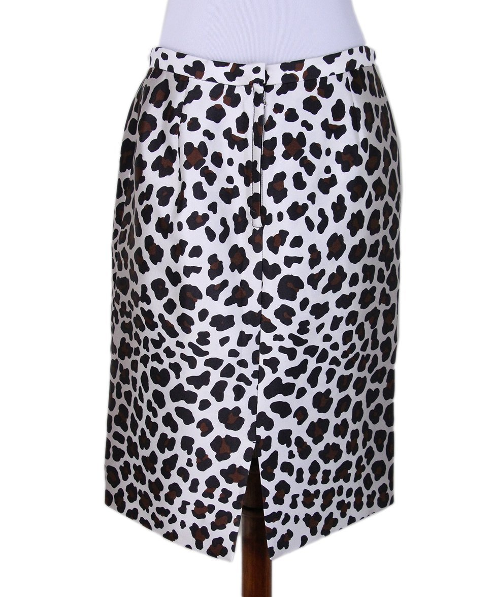 Marc Jacobs leopard white silk skirt 3