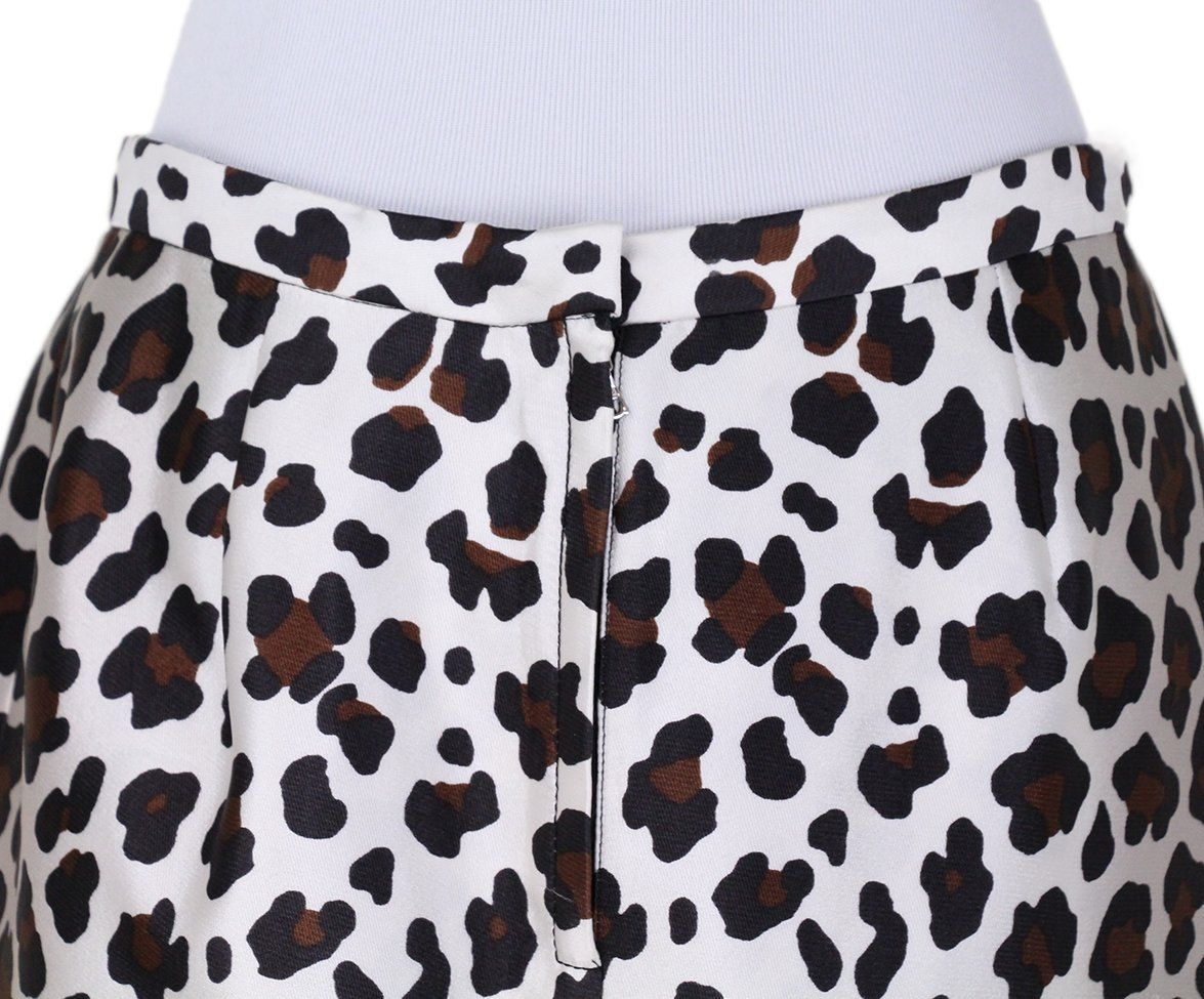 Marc Jacobs leopard white silk skirt 5