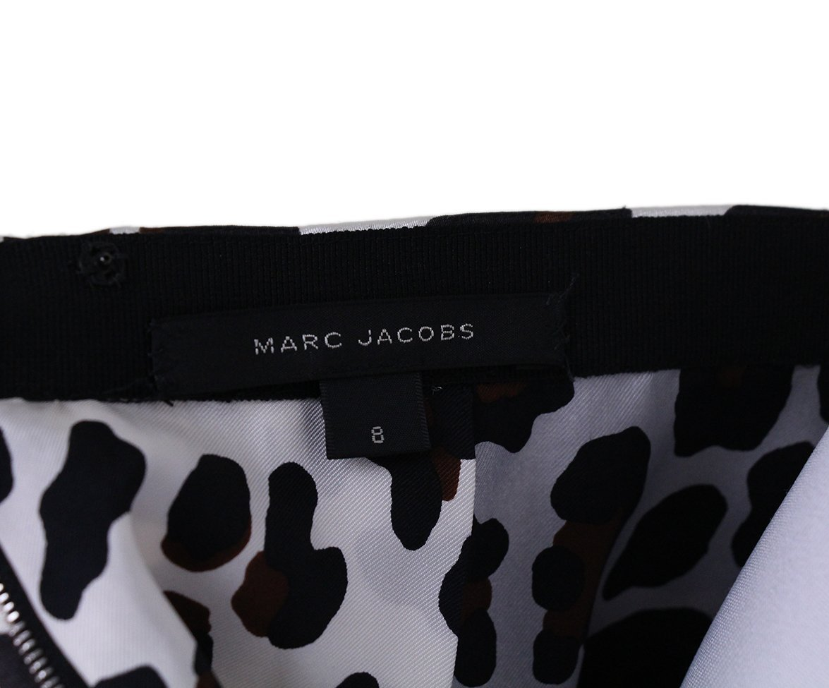 Marc Jacobs leopard white silk skirt 4