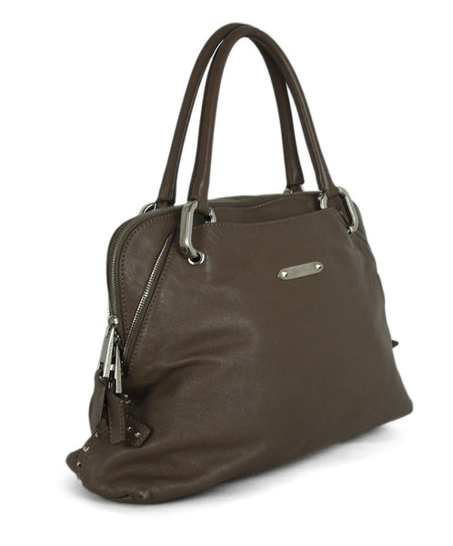 Marc Jacobs Neutral Taupe Leather Satchel Handbag 2