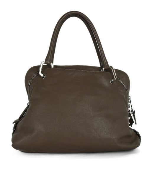 Marc Jacobs Neutral Taupe Leather Satchel Handbag 3