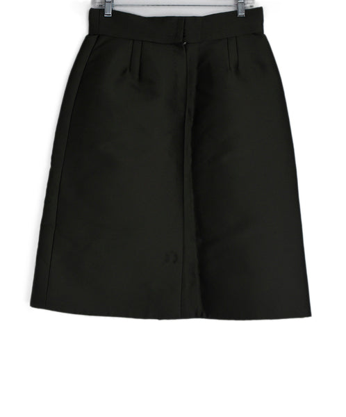 Marc Jacobs Green Olive Silk Skirt 1
