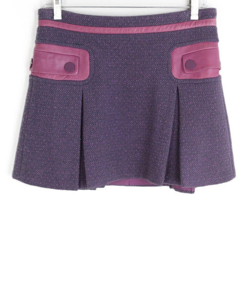 Marc Jacobs pink lilac wool skirt 1