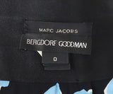 Marc Jacobs Black Blue Print Silk Skirt 4