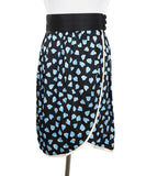 Marc Jacobs Black Blue Print Silk Skirt 1