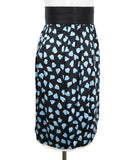 Marc Jacobs Black Blue Print Silk Skirt 2