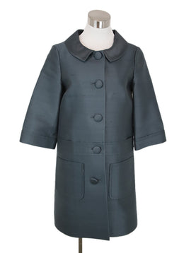 Marc By Marc Jacobs Blue Grey Silk Coat 1