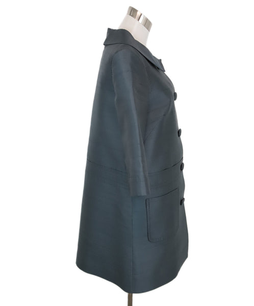 Marc By Marc Jacobs Blue Grey Silk Coat 2