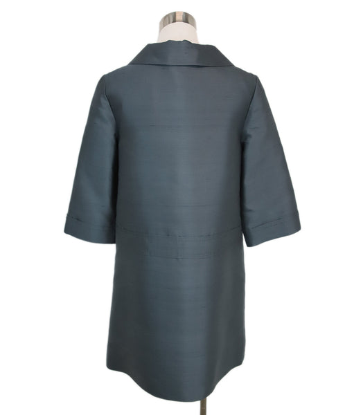 Marc By Marc Jacobs Blue Grey Silk Coat 3